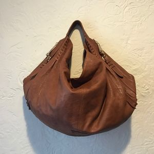 Andrew Marc Brown Leather Hobo